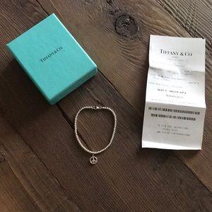 Tiffany & Co Sterling silver peace bracelet